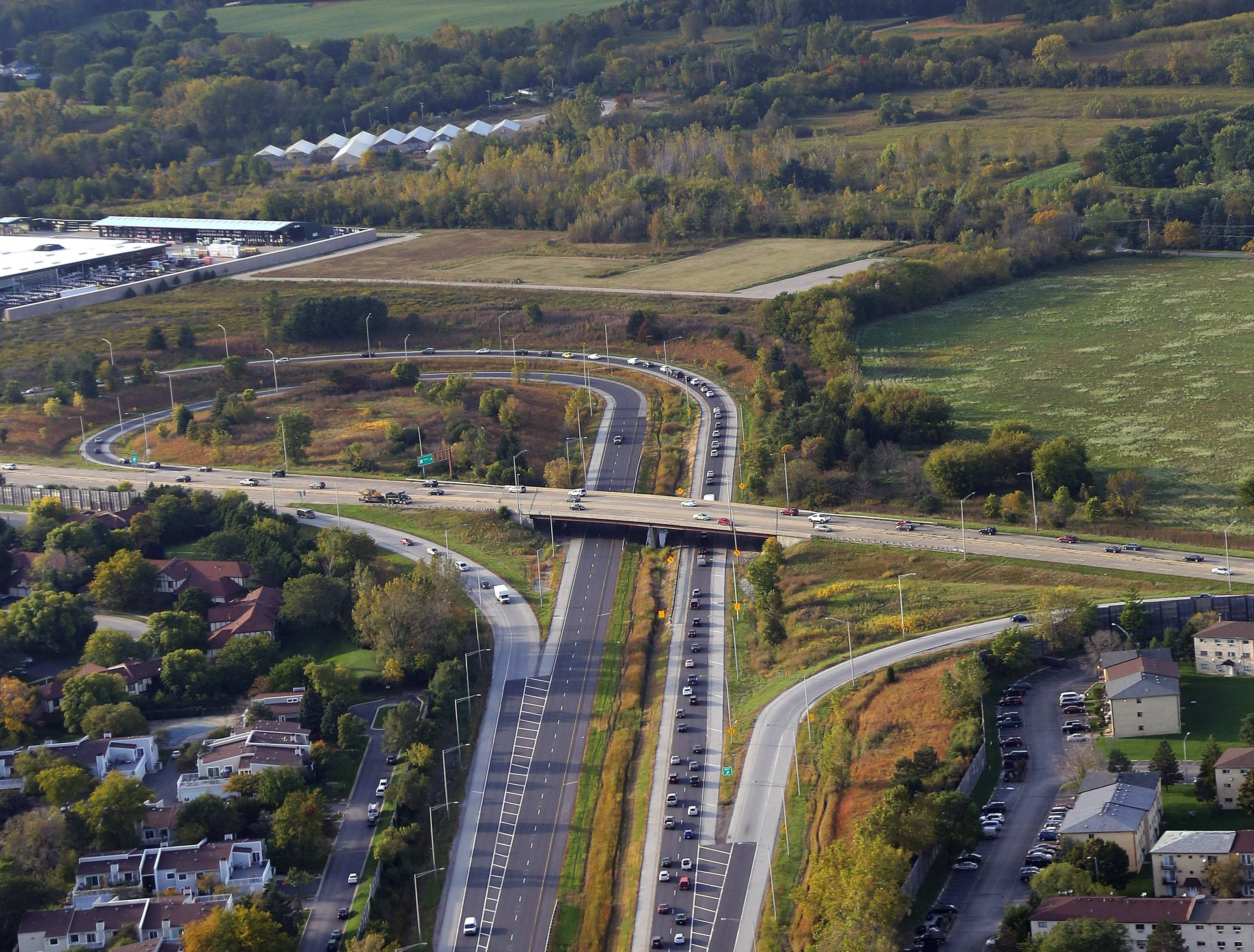 Route 53 ends near the Lake County border. Plans to extend it north to Route 120 are stalling.
