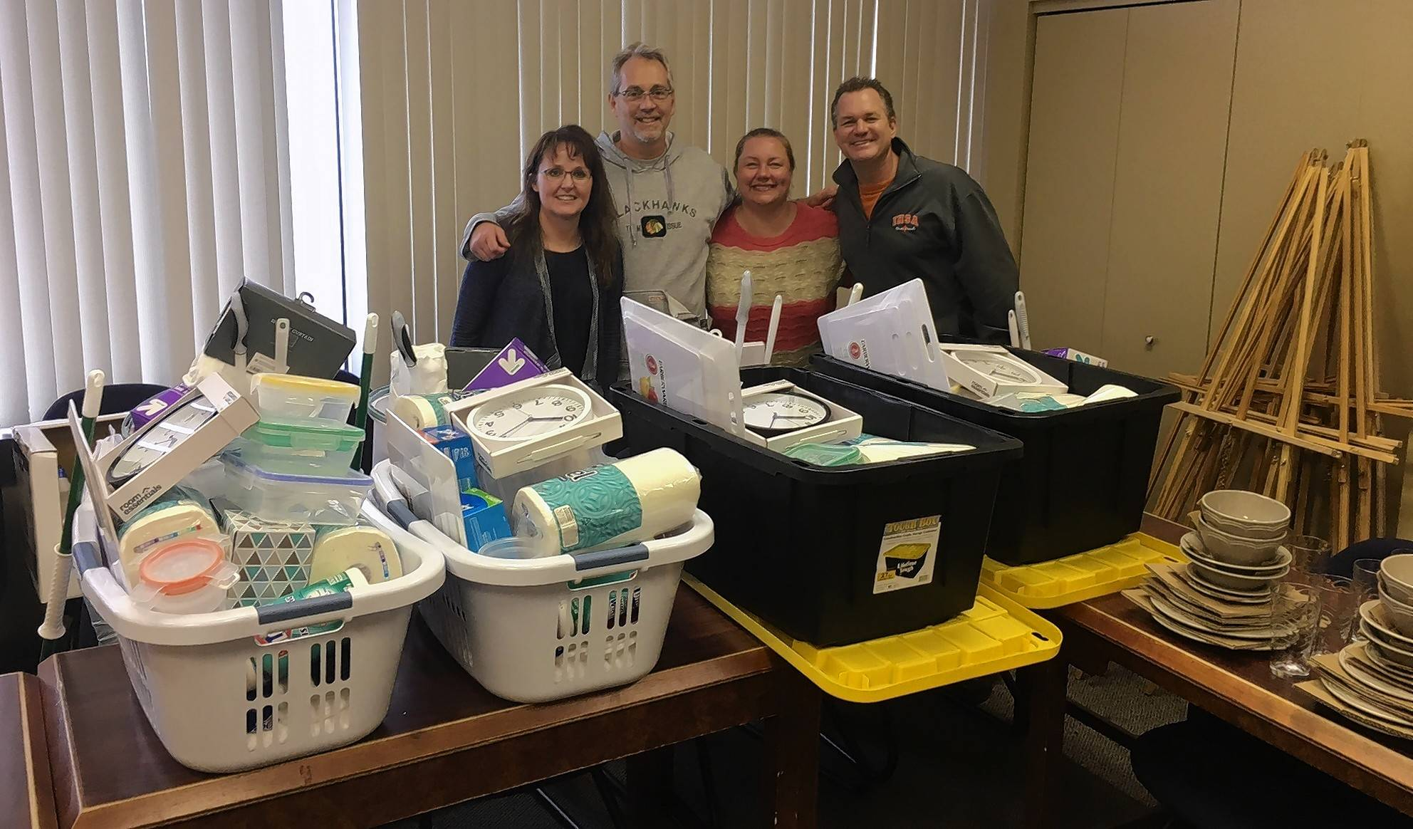 Corporate Ambassador XL Catlin donated and put together welcome home kits for newly housed Journeys clients.