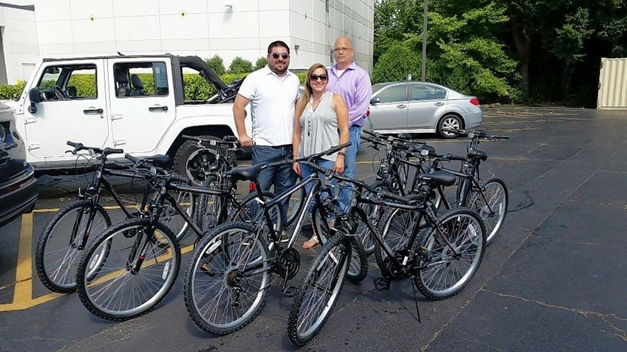 Corporate Ambassador CellTrak donated new bikes to Journeys | The Road Home.