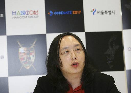 "In this April 12, 2017 photo, Taiwan's ""digital minister"" Audrey Tang speaks during an interview in Seoul, South Korea. Tang, a computer prodigy and entrepreneur who taught herself programming when she was 8, hopes to use the internet to transform public involvement in government. She says she finds President Donald Trump's Twitter posts ""refreshing."" (AP Photo/Ahn Young-joon)"