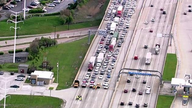 Illinois State Police blocked the eastbound lanes of the Reagan Tollway starting Friday afternoon as they investigated a shooting.