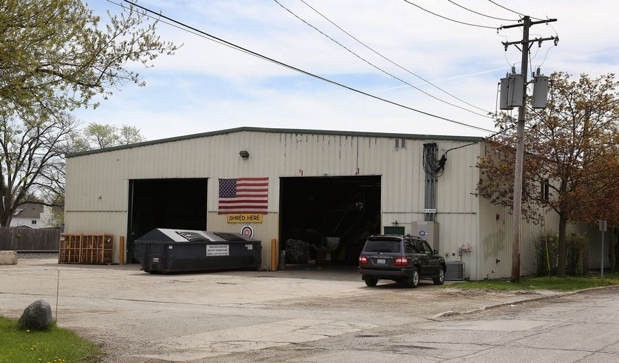 The Mundelein village board is seeking to condemn the building at 101 E. Maple Ave. that houses a recycling facility.