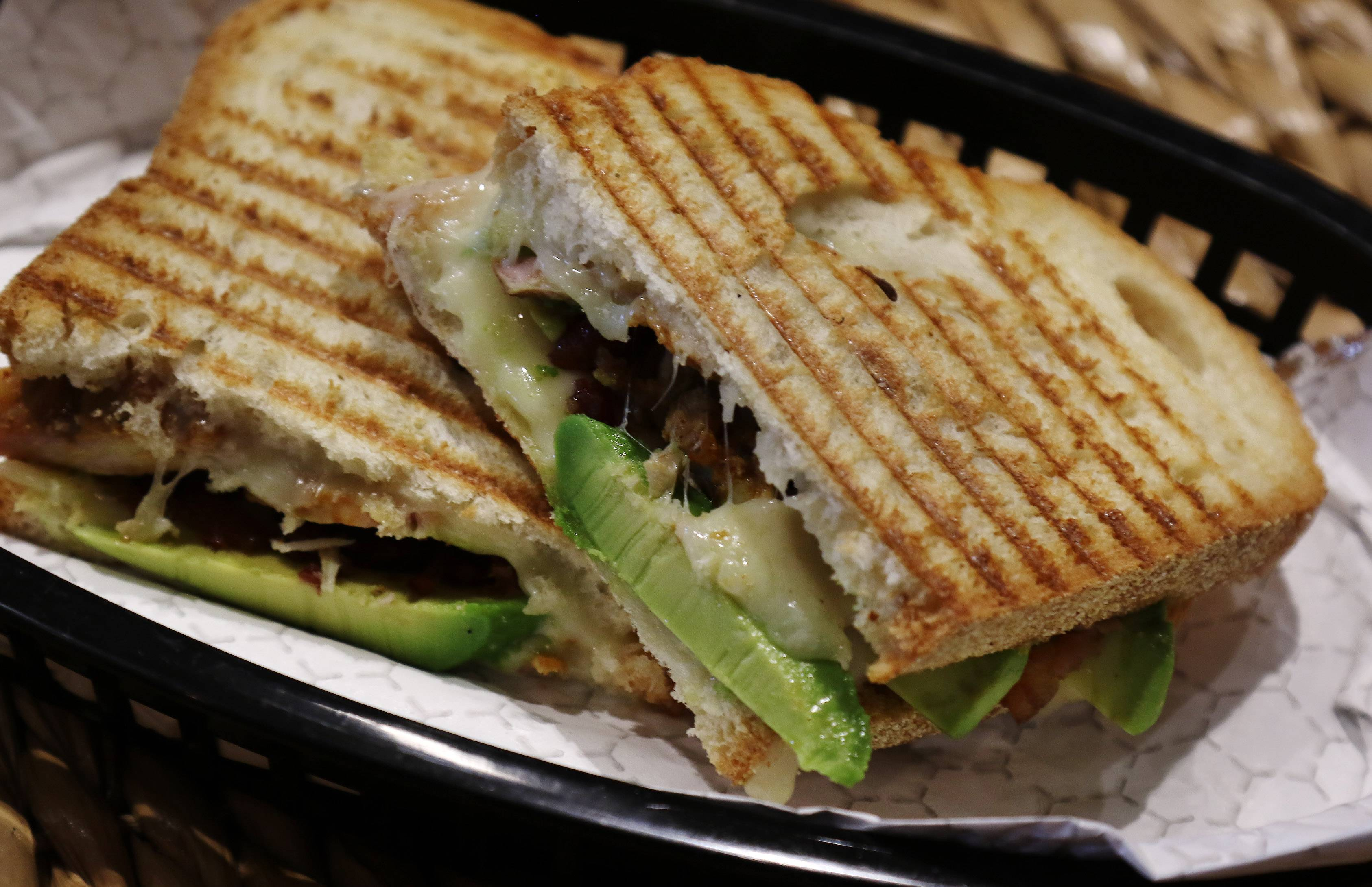 Chicken and avocado sandwich is among the menu items at the recently opened Eating Hub in Mundelein.
