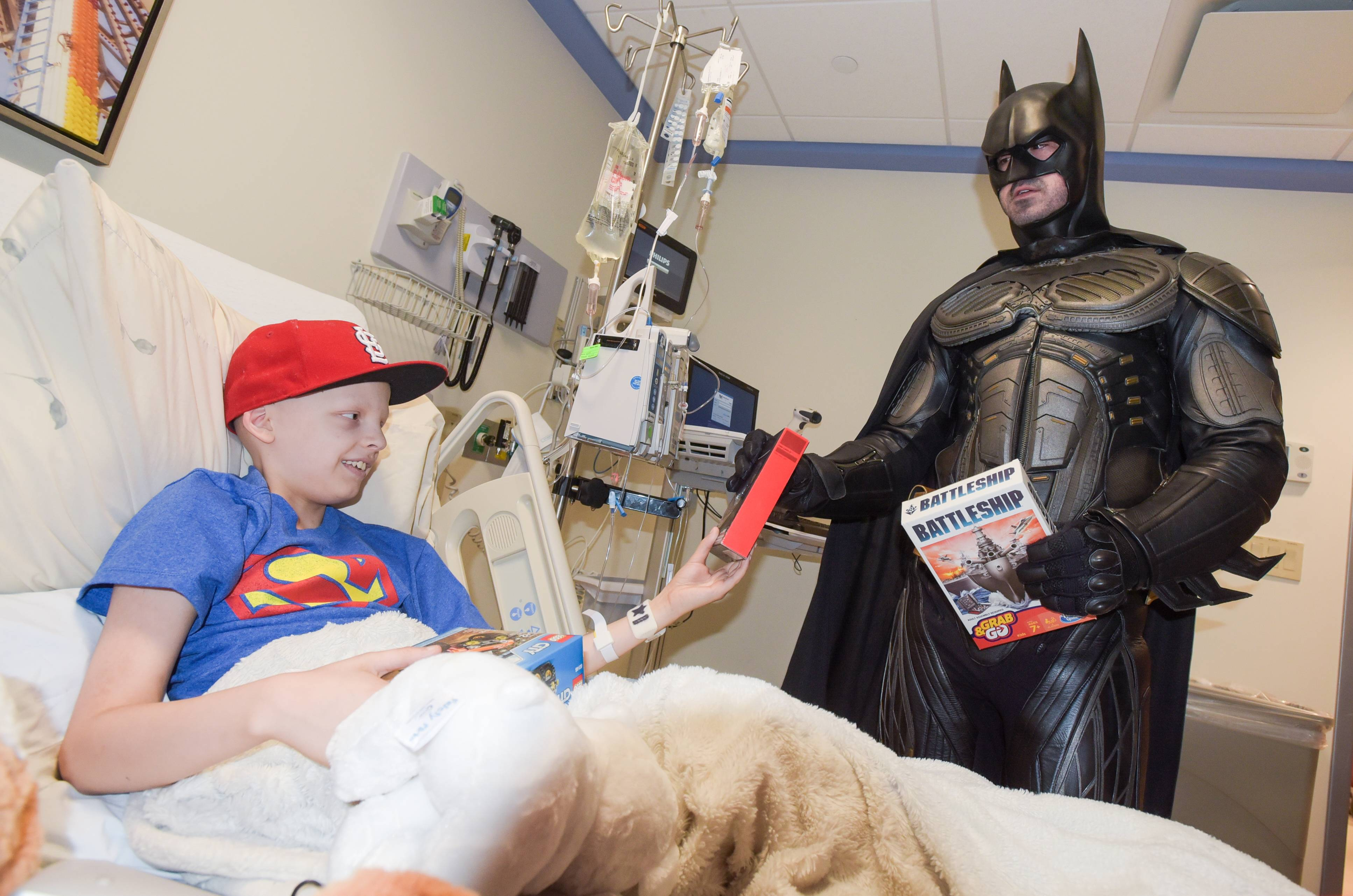 On Superhero Day at Winfield hospital, sick kids are the 'true heroes'