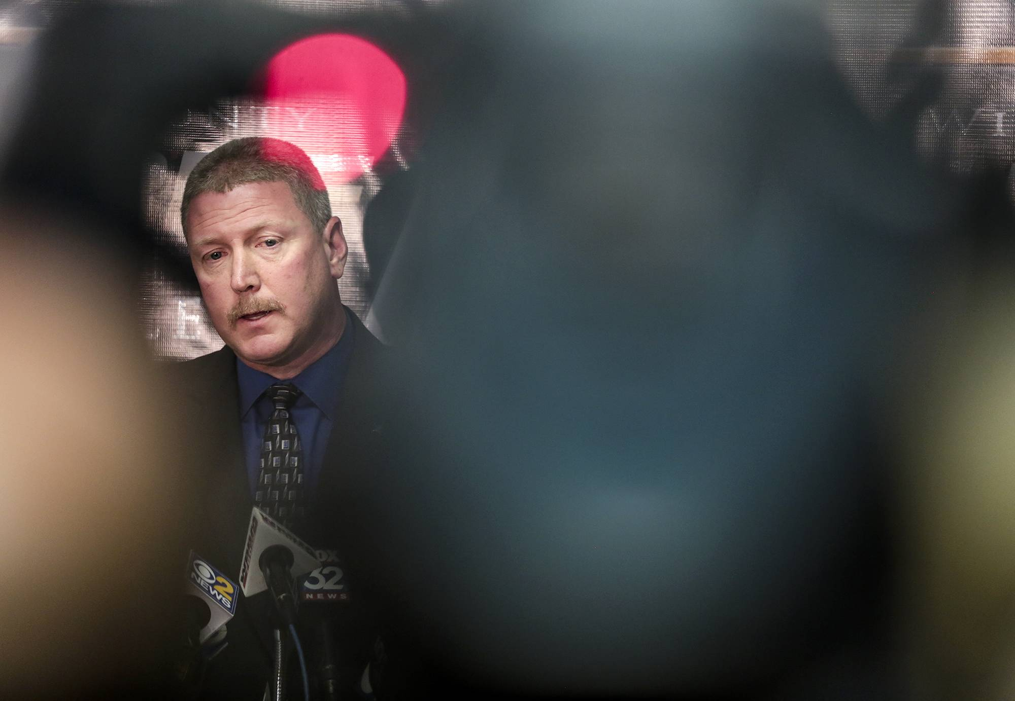 Will County Sheriff's Department Deputy Chief Rick Ackerson speaks Thursday during a news conference on the death of 1½-year-old Semaj Crosby in Joliet.