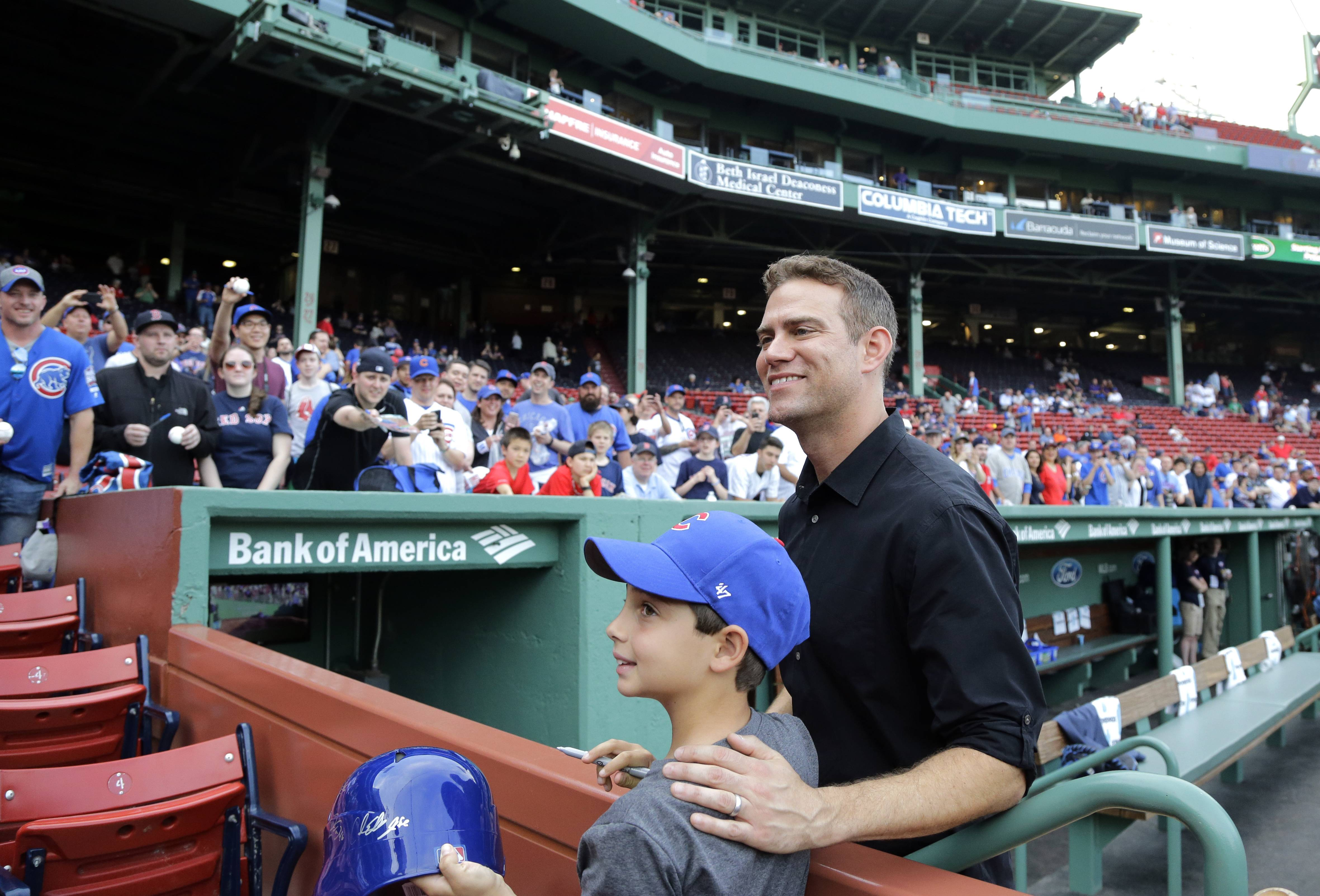 Chicago Cubs president Theo Epstein has been the man of the hour among Cubs fans and Red Sox fans this weekend. Epstein, former GM of the Red Sox, returned to Fenway Friday as a defending world champion with the Cubs