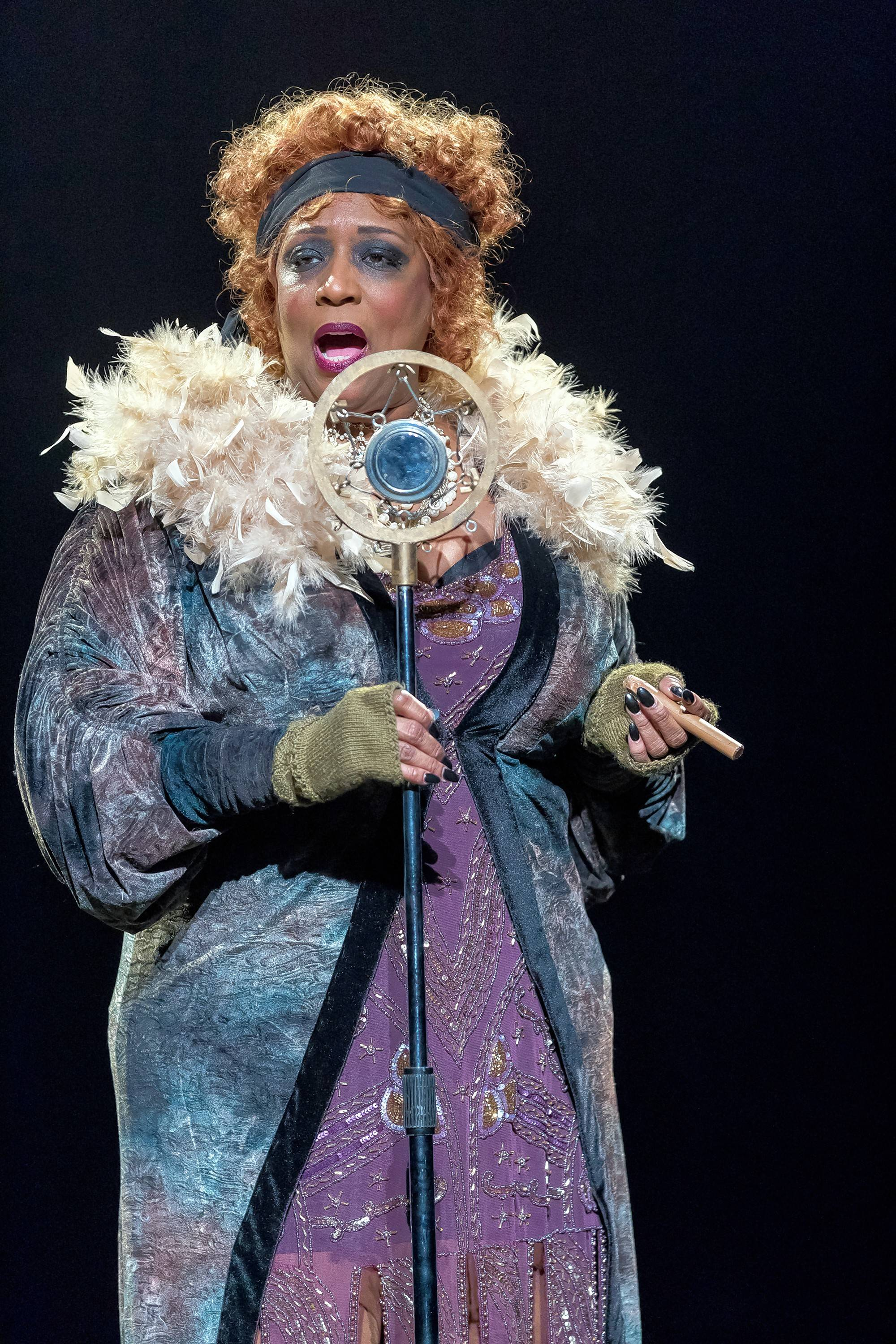 "Matron Mama Morton (E. Faye Butler) sings the number ""When You're Good to Mama"" in the musical ""Chicago"" at Drury Lane Theatre."