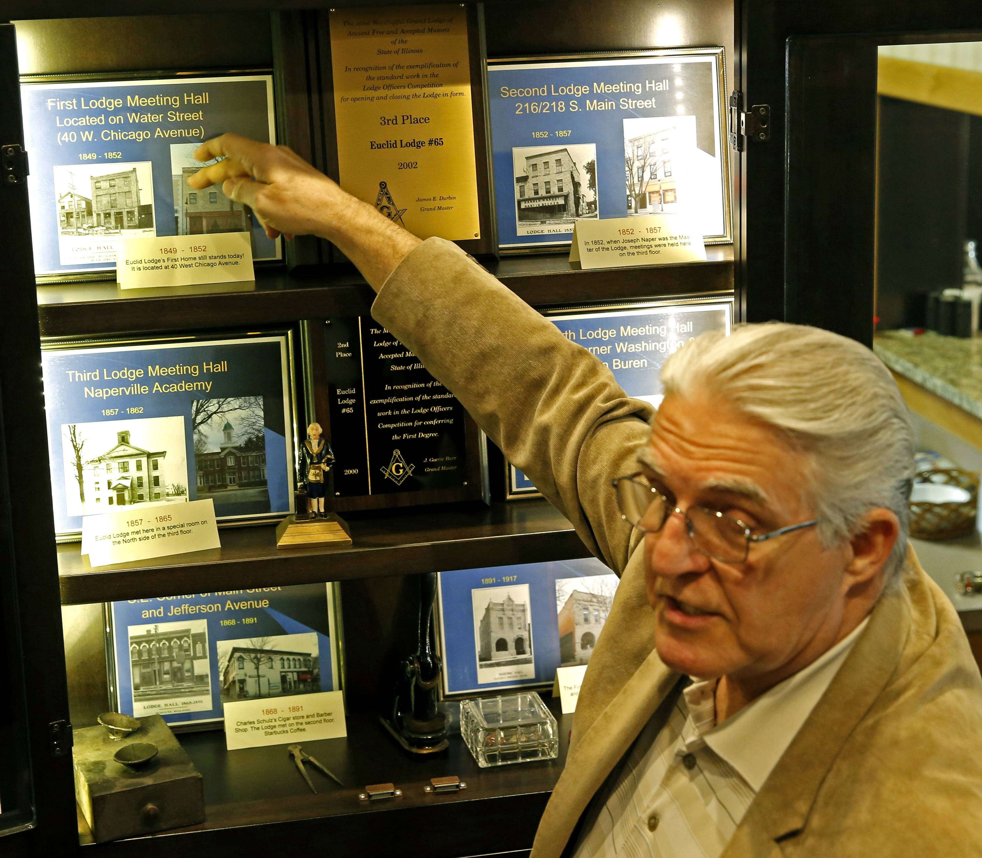 Before finding its home for the past 100 years at 34 W. Jefferson Ave. in downtown Naperville, the city's masonic fraternity, Euclid Lodge No. 65 Ancient Free and Accepted Masons, met in six different locations over 69 years, secretary/historian Tim Ory says.
