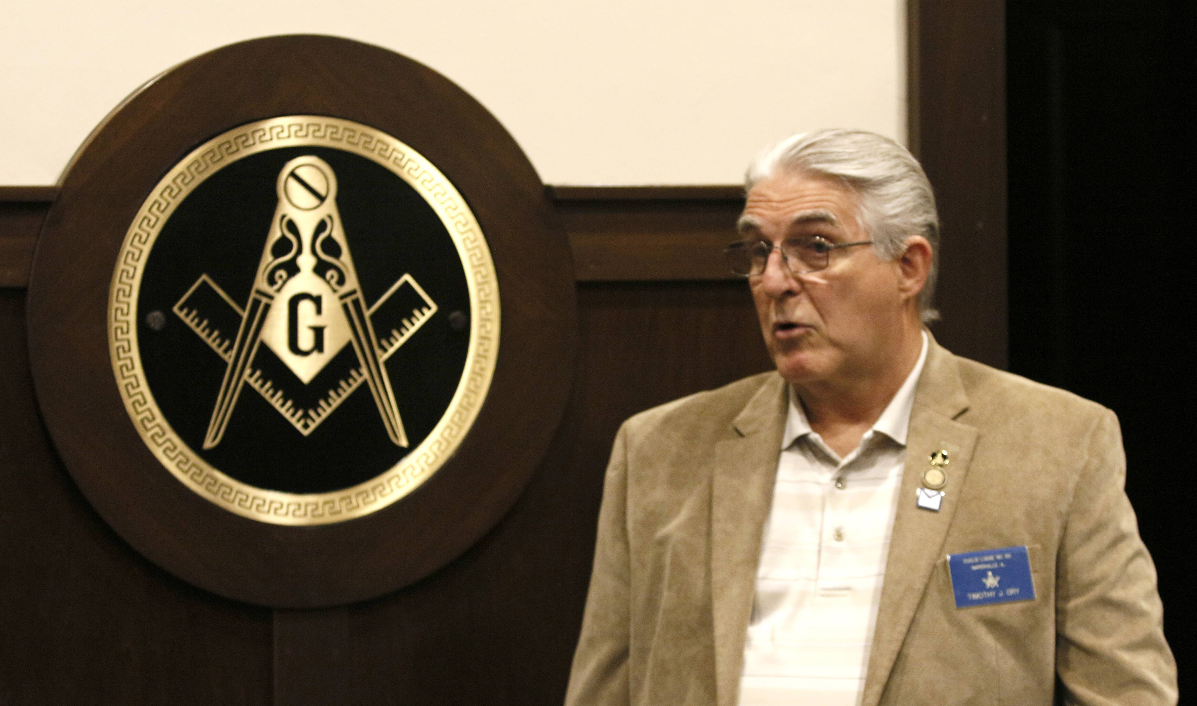 Tim Ory, secretary/historian for the Euclid Lodge No. 65 Ancient Free and Accepted Masons in Naperville, says masonry is all about taking good men and giving them the tools to make themselves better.
