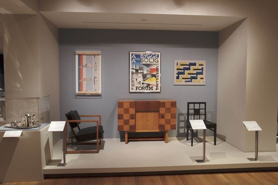 Jazz Age design shown in textiles, furniture and more