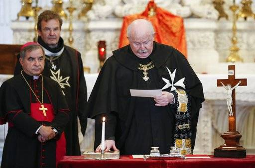 Temporary knights of malta order chief takes oath of office for Temporary office roma