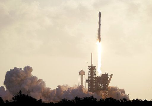 A Falcon 9 SpaceX rocket carrying a classified satellite for the National Reconnaissance Office lifts off from pad 39A at the Kennedy Space Center in Cape Canaveral, Fla., Monday, May 1, 2017.
