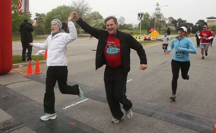 Runners taking part Saturday in the DuPage Human Race can celebrate crossing the finish line and knowing they've helped a favorite cause. Runners can choose which of the 71 participating nonprofits will benefit from their participation.