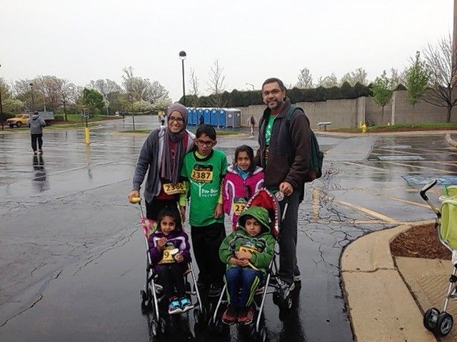 Shama Ahmed runs with her family in the DuPage Human Race to benefit the Pro Bono Network. She volunteers with the organization to provide legal aid to people who might not be able to afford an attorney.