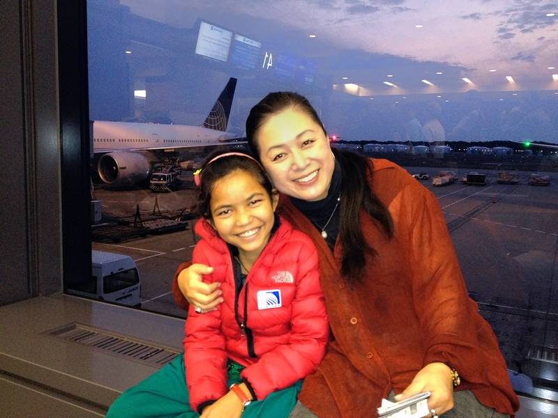 Suburban Flight Attendants Care For Sick Children On