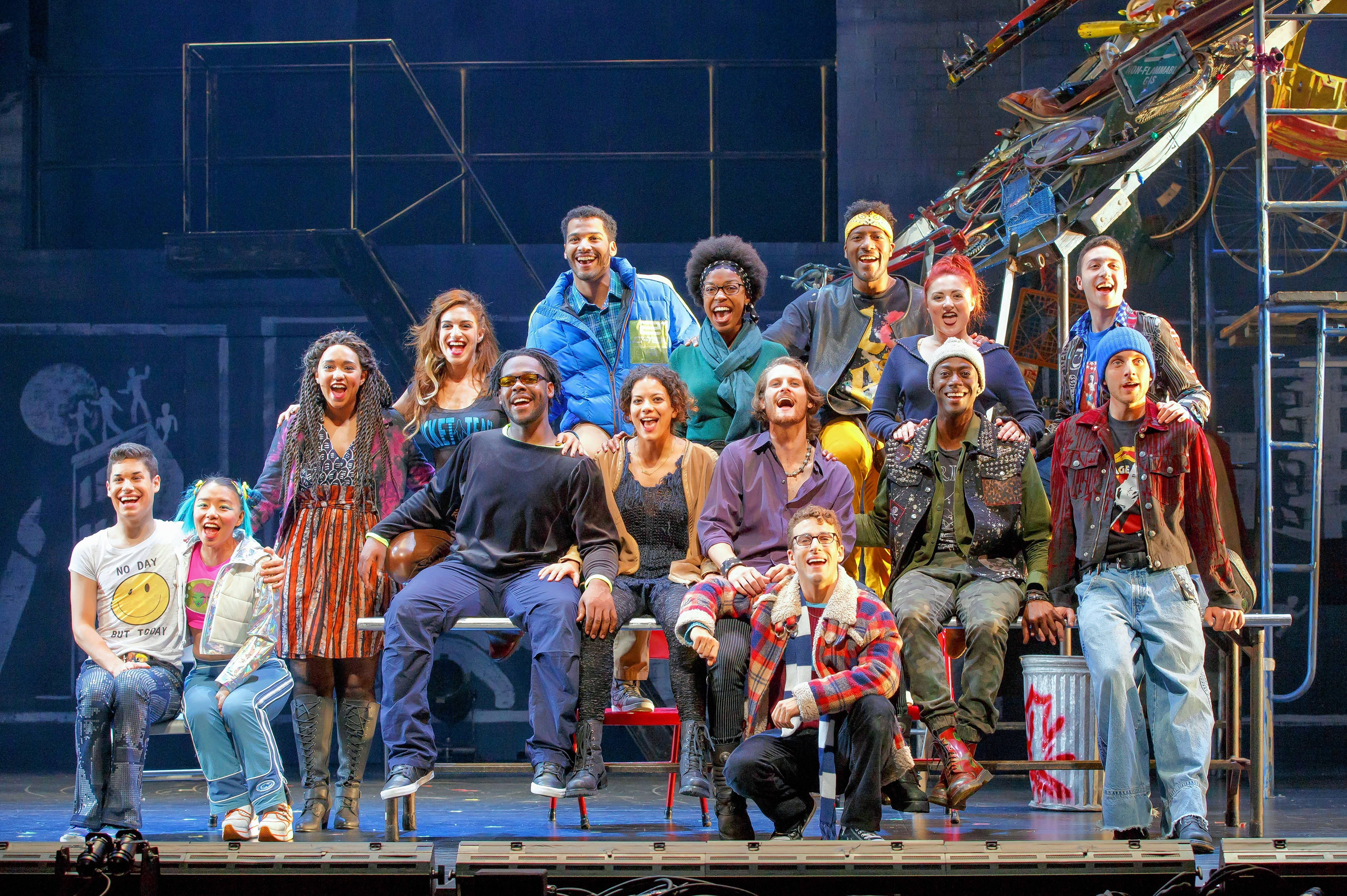 "Deerfield native Sammy Ferber, far right back row, is in the ensemble and is an understudy for the role of Mark in ""Rent,"" which plays Chicago's Oriental Theatre for a limited run."