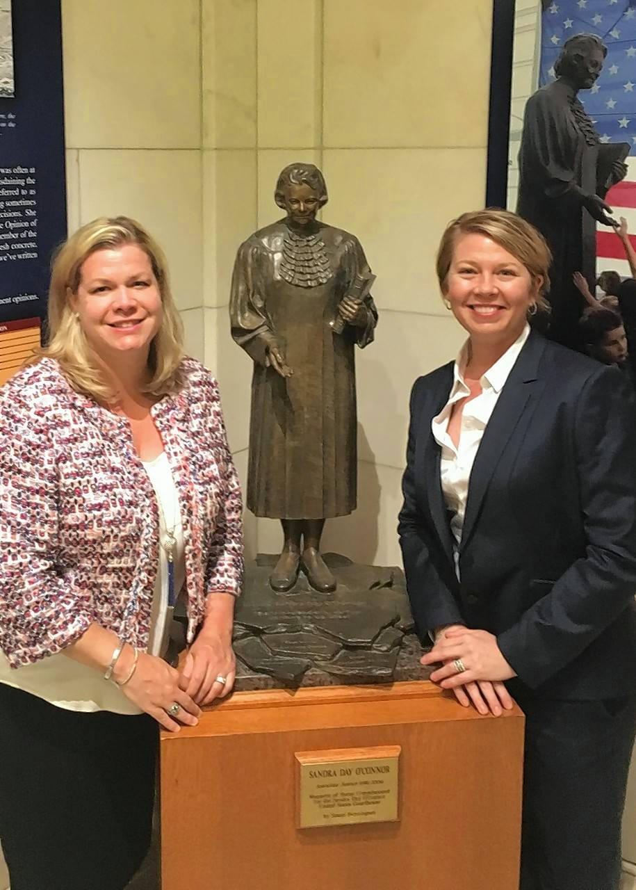Attorneys Susan L. Dawson, at left, and Nichole M. Waltz can now present cases to the U.S. Supreme Court in Washington, D.C.