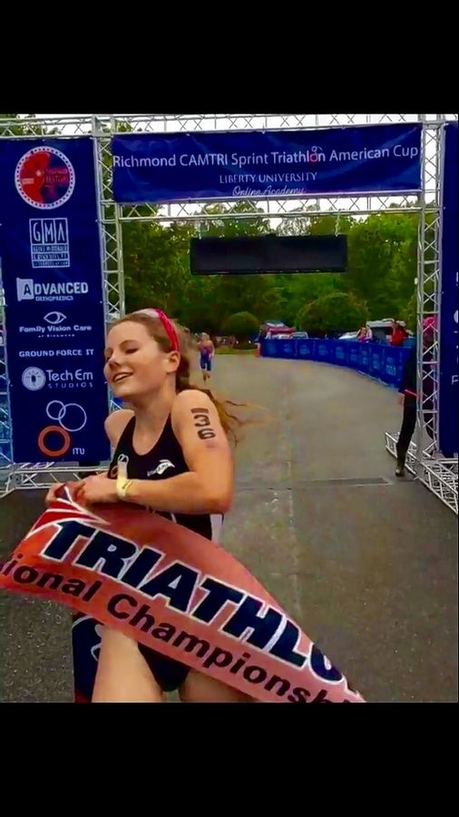 St. Charles North junior Audrey Ernst recently won the high school national championship in the triathlon.