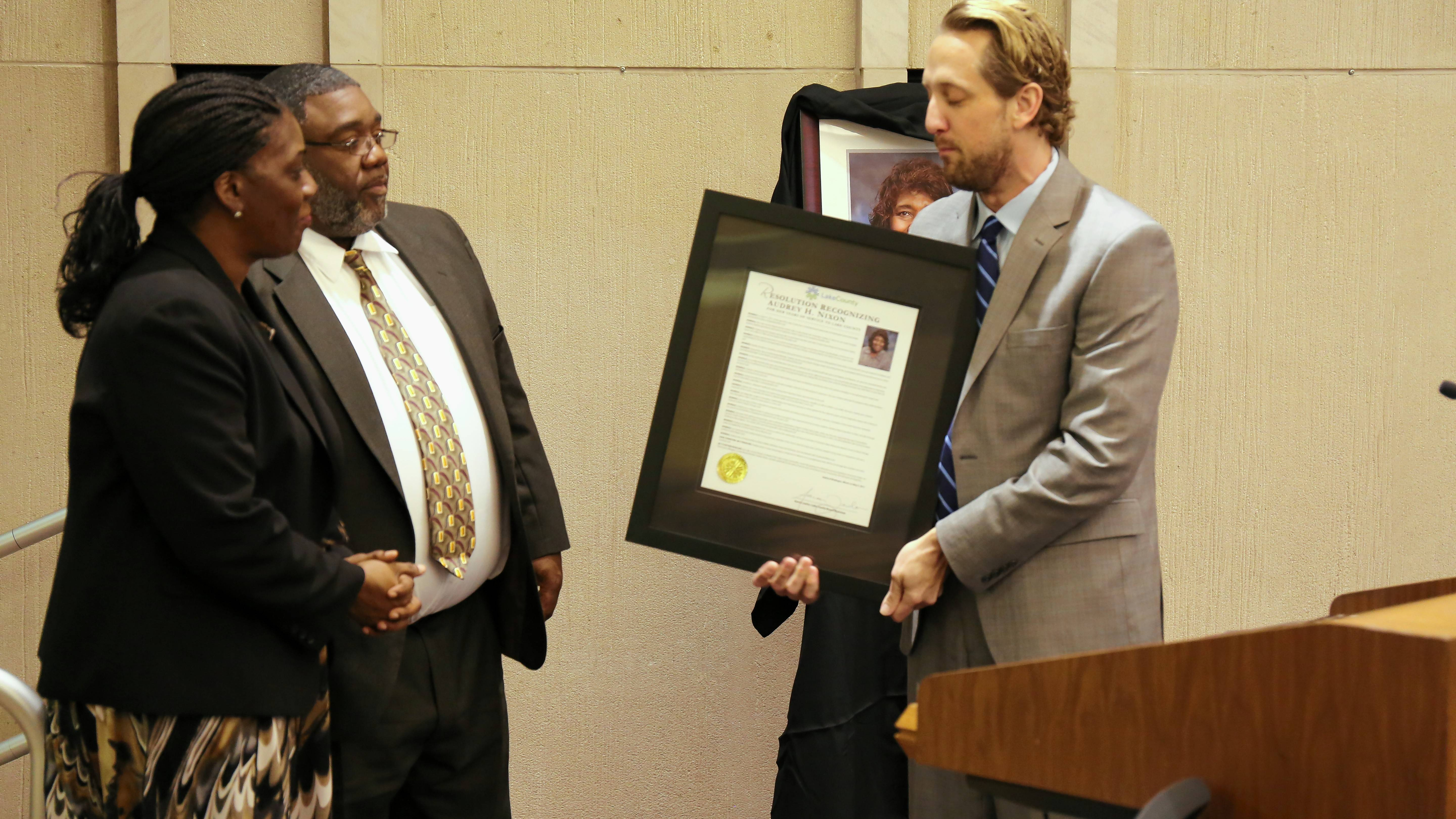 Nixon posthumously honored by Lake County Board