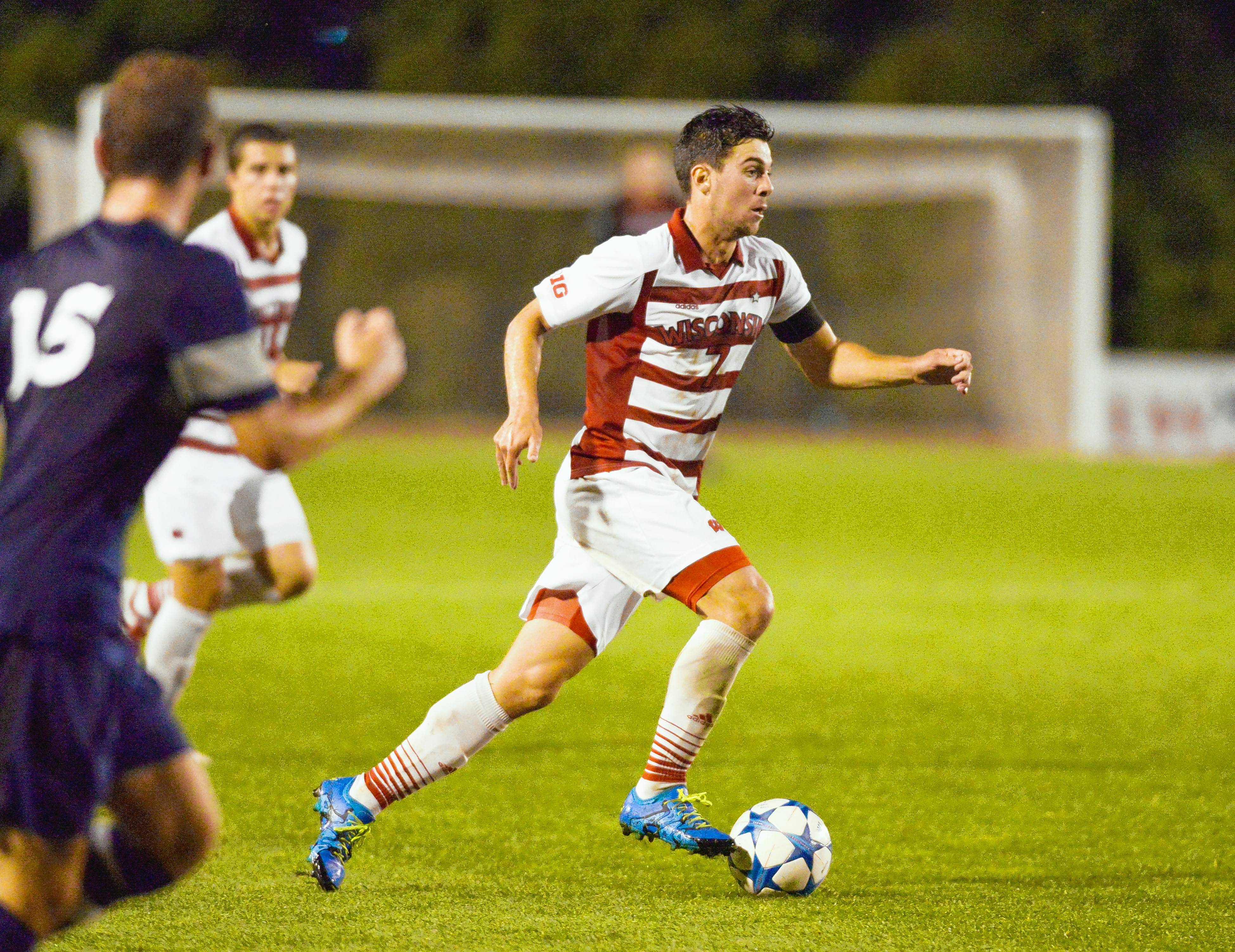 Photo courtesy of Wisconsin Athletic CommunicationsDrew Conner, a captain and midfielder for the Wisconsin Badgers, has signed with the Chicago Fire.