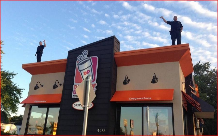 Police Officers To Stake Out 274 Dunkin Donuts Rooftops For Special Olympics Illinois May 19
