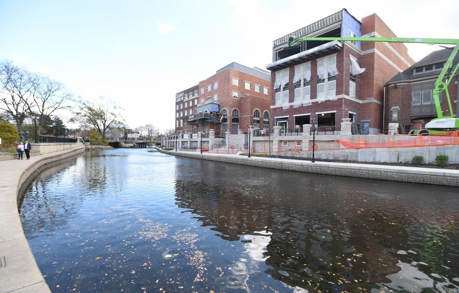 The Riverwalk in downtown Naperville has a new southern border from Main to Webster streets, where the Water Street District is starting to come to life with two new restaurants expected to open in June.