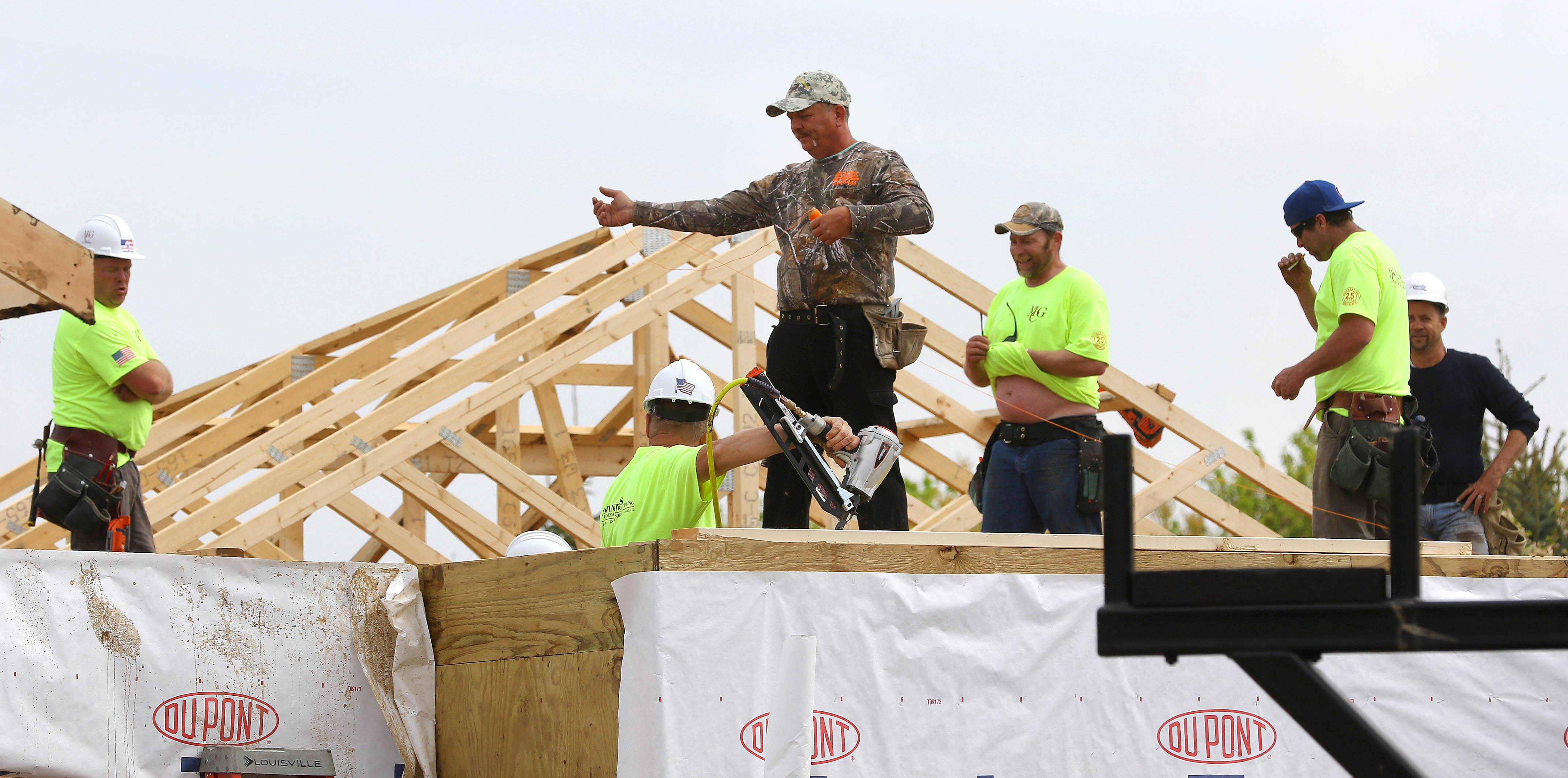 At least 85 volunteers from 16 states are expected to participate in construction of a house in Spring Grove for Army veteran Tony Chobanov of Naperville. The work started Thursday.