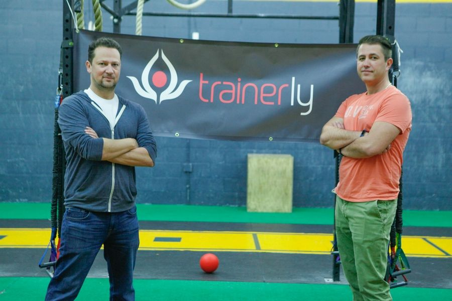 Trainer.ly Founders Leo Akseulrud (Left) and Russ BerkunHelen Berkun