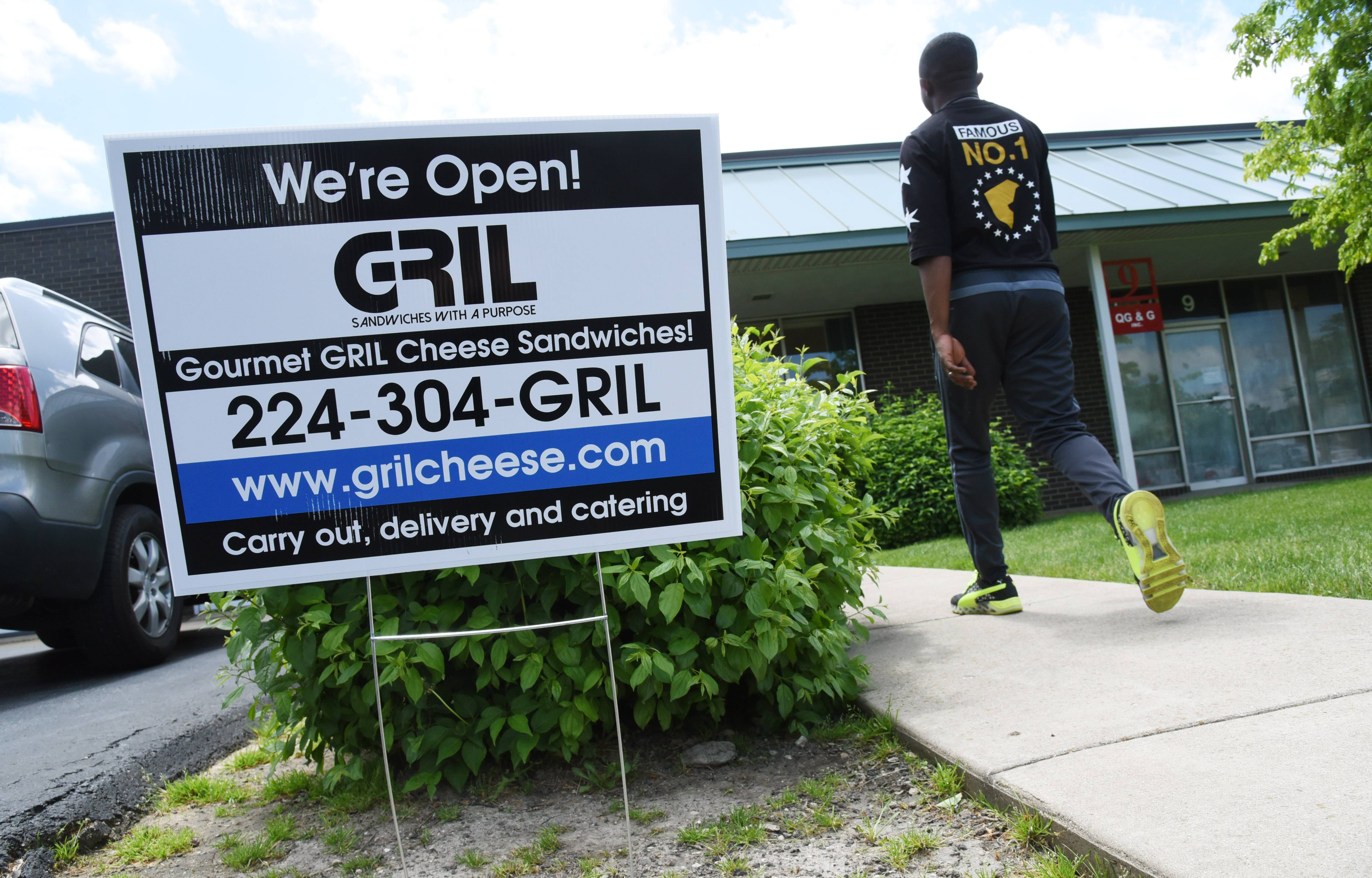A new gourmet carryout grilled cheese sandwich restaurant called GRIL has opened in an industrial area on Washington Street in Mundelein.