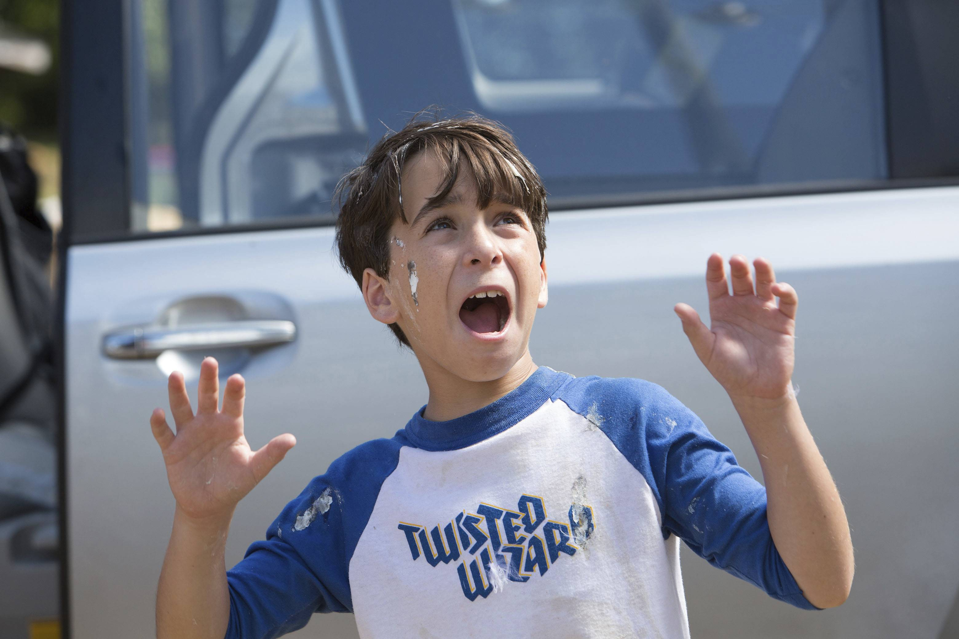 "Greg (Jason Drucker) and his family endure all sorts of hijinks in ""Diary of a Wimpy Kid: The Long Haul."""