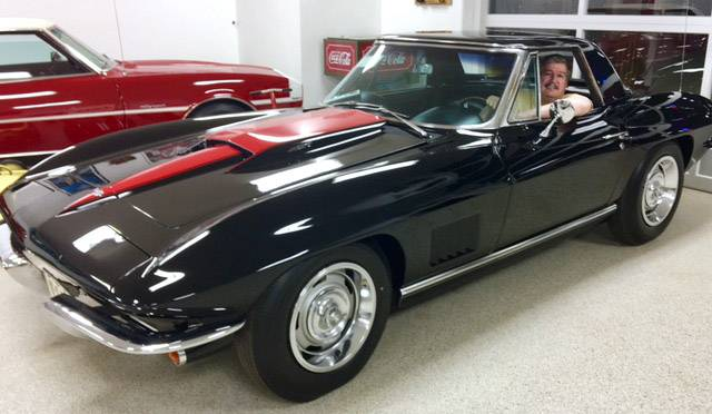 Mettawa resident Chris Piscitello behind the wheel of the rare 1967 Corvette convertible he will be auctioning Friday at an expected price of up to $500,000.