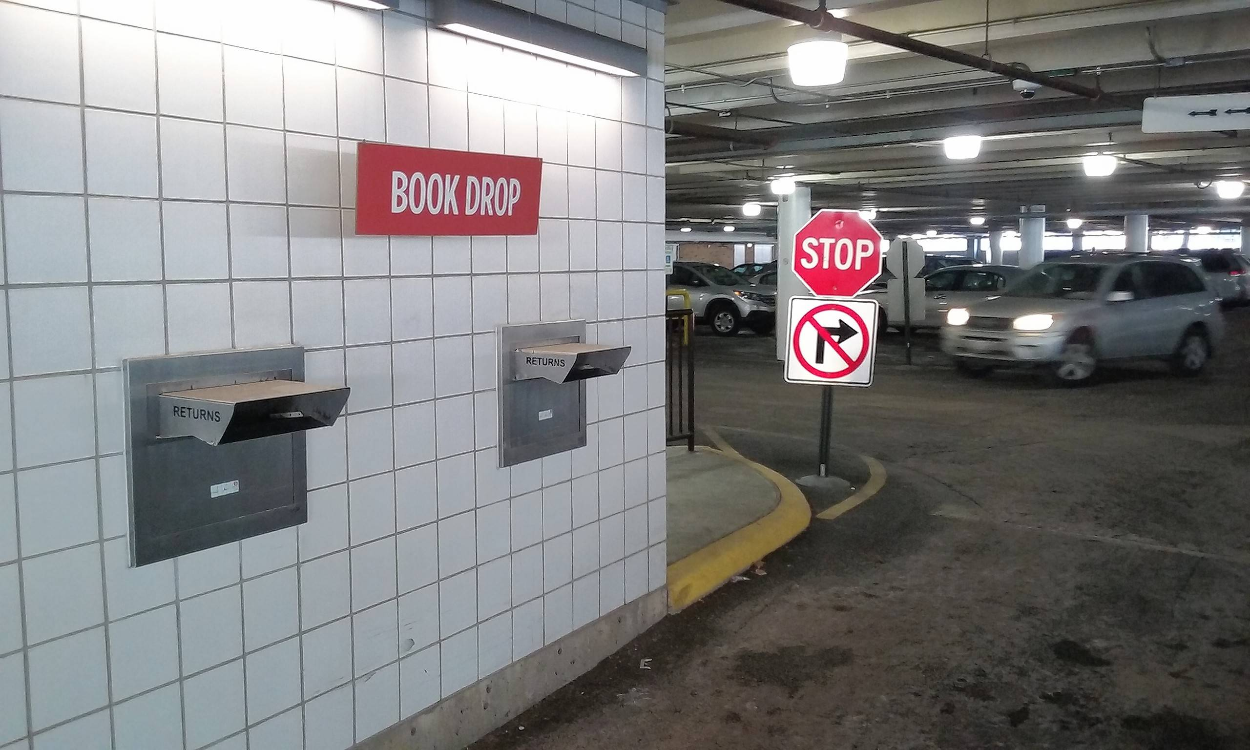 The book drop in the lower level parking garage of the Arlington Heights Memorial Library will be closed for a short time as the garage is upgraded this summer. The library will post details on its website and social media pages as the project progresses.