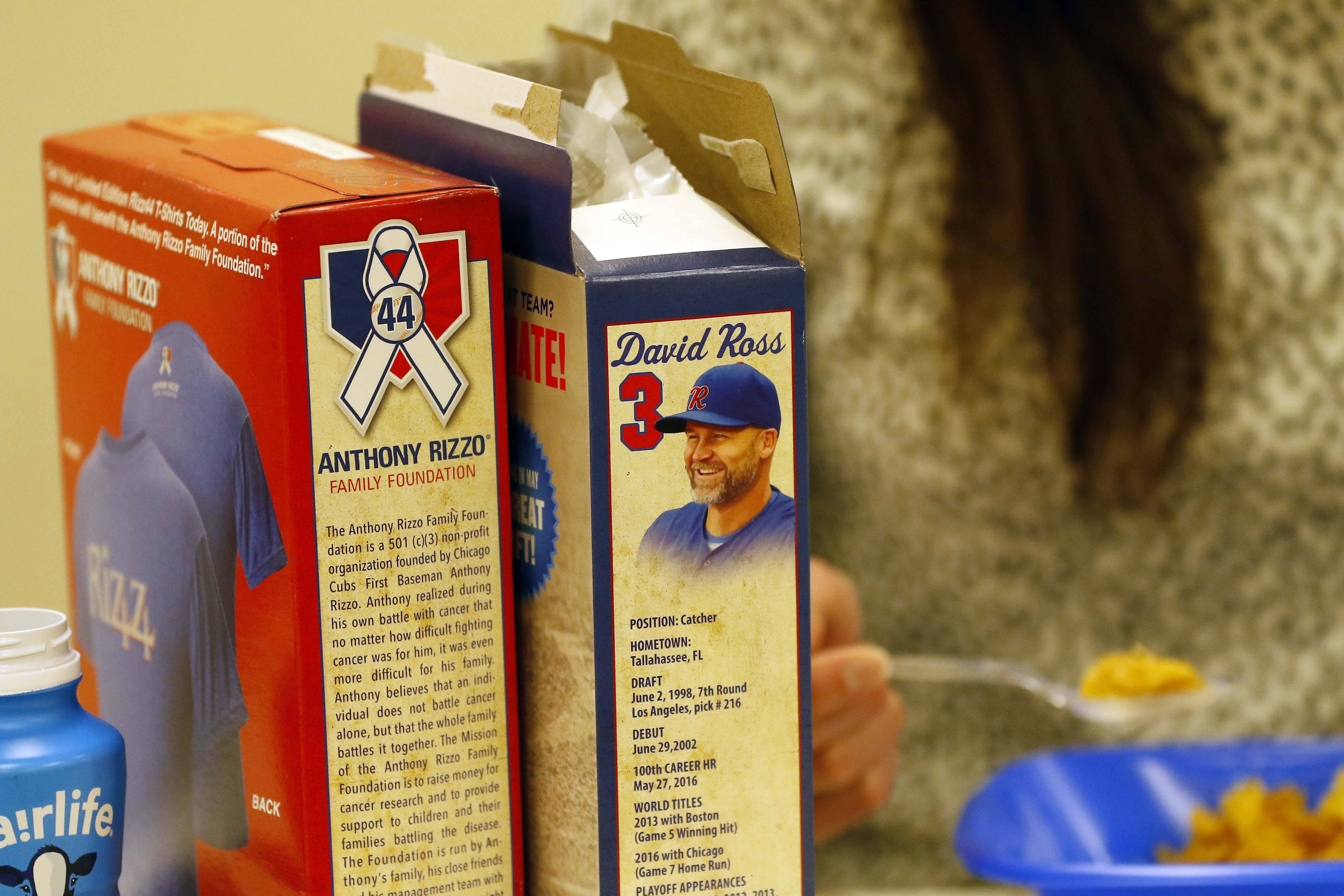 In the battle of breakfast cereals, retired Cubs backup catcher David Ross goes head-to-head with All-Star first-baseman Anthony Rizzo.