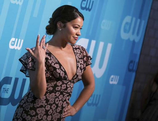 Gina Rodriguez attends the CW Network 2017 Upfront presentation at The London Hotel on Thursday, May 18, 2017, in New York. (Photo by Charles Sykes/Invision/AP)