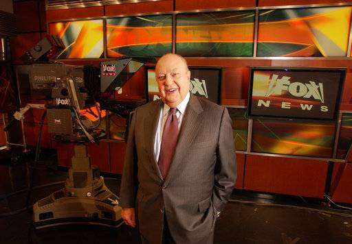 FILE - In this Sept. 29, 2006 file photo, Fox News CEO Roger Ailes poses at Fox News in New York.  Fox News said on Thursday, May 18, 2017, that Ailes has died. He was 77.