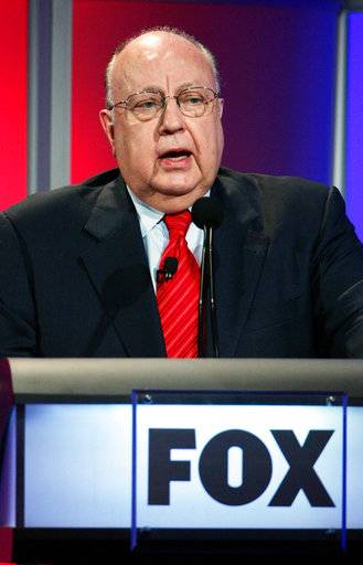 FILE - In this July 24, 2006 file photo, Roger Ailes, chairman and chief executive officer of Fox News, speaks during the Summer Television Critics Association Press Tour in Pasadena, Calif.  Fox News said on Thursday, May 18, 2017, that Ailes has died. He was 77.