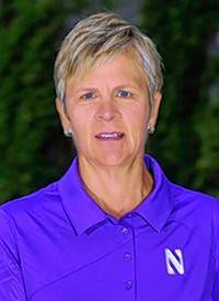 Northwestern women's golf coach Emily Fletcher
