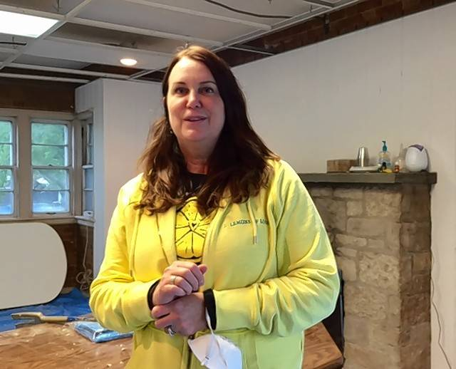 Lemons of Love founder Jill Swanson Peltier envisions a comforting place for cancer fighters and volunteers while in the midst of renovating the organization's new home in Mount Prospect.