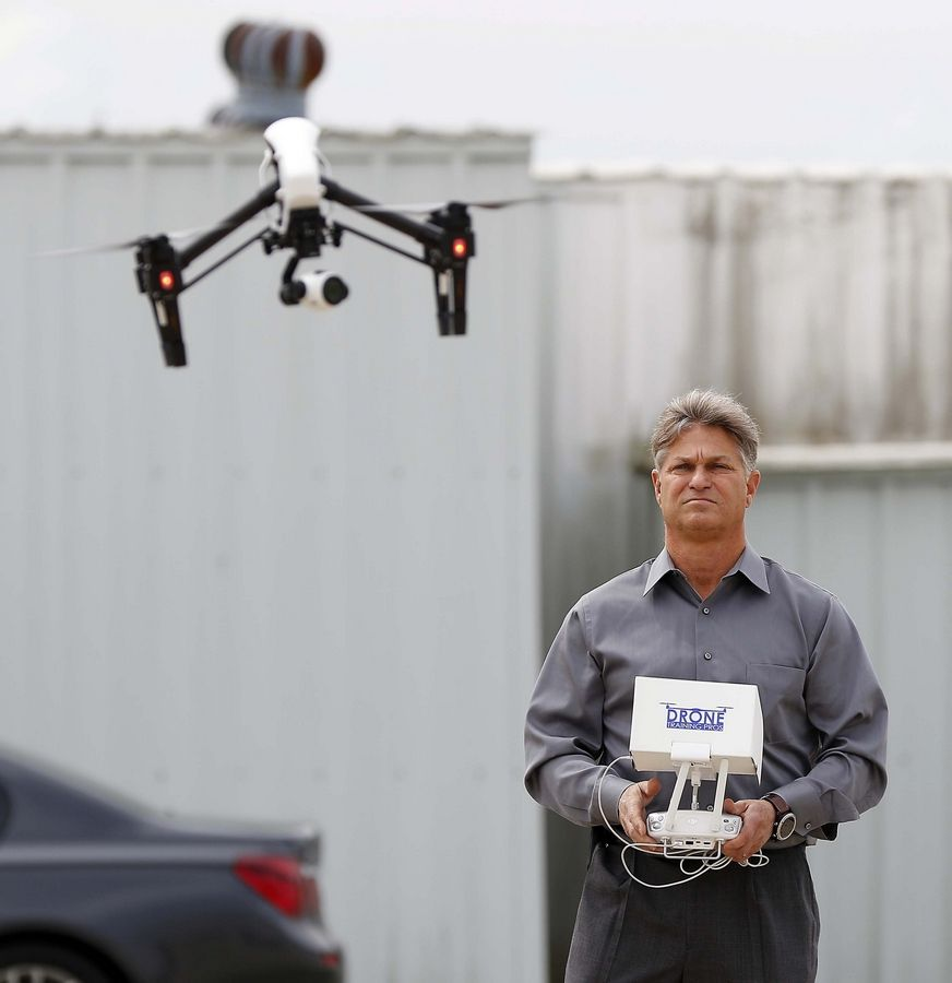 Crystal Lake pilot Rob Nelson helped develop a new aviation course being launched by Crystal Lake High School District 155 this fall. Nelson, who owns Drone Training Pros, trains people getting their commercial drone license out of Lake in the Hills Airport.