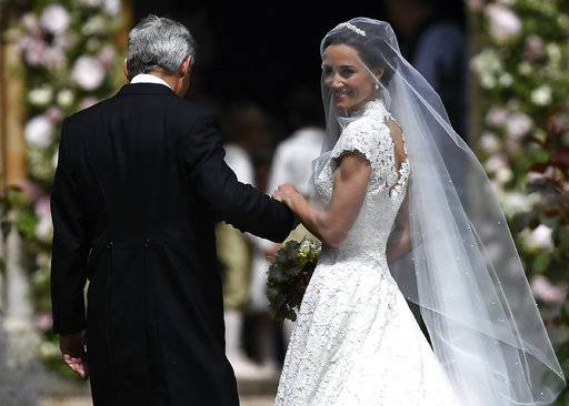 High society: Pippa Middleton marries at almost-royal event
