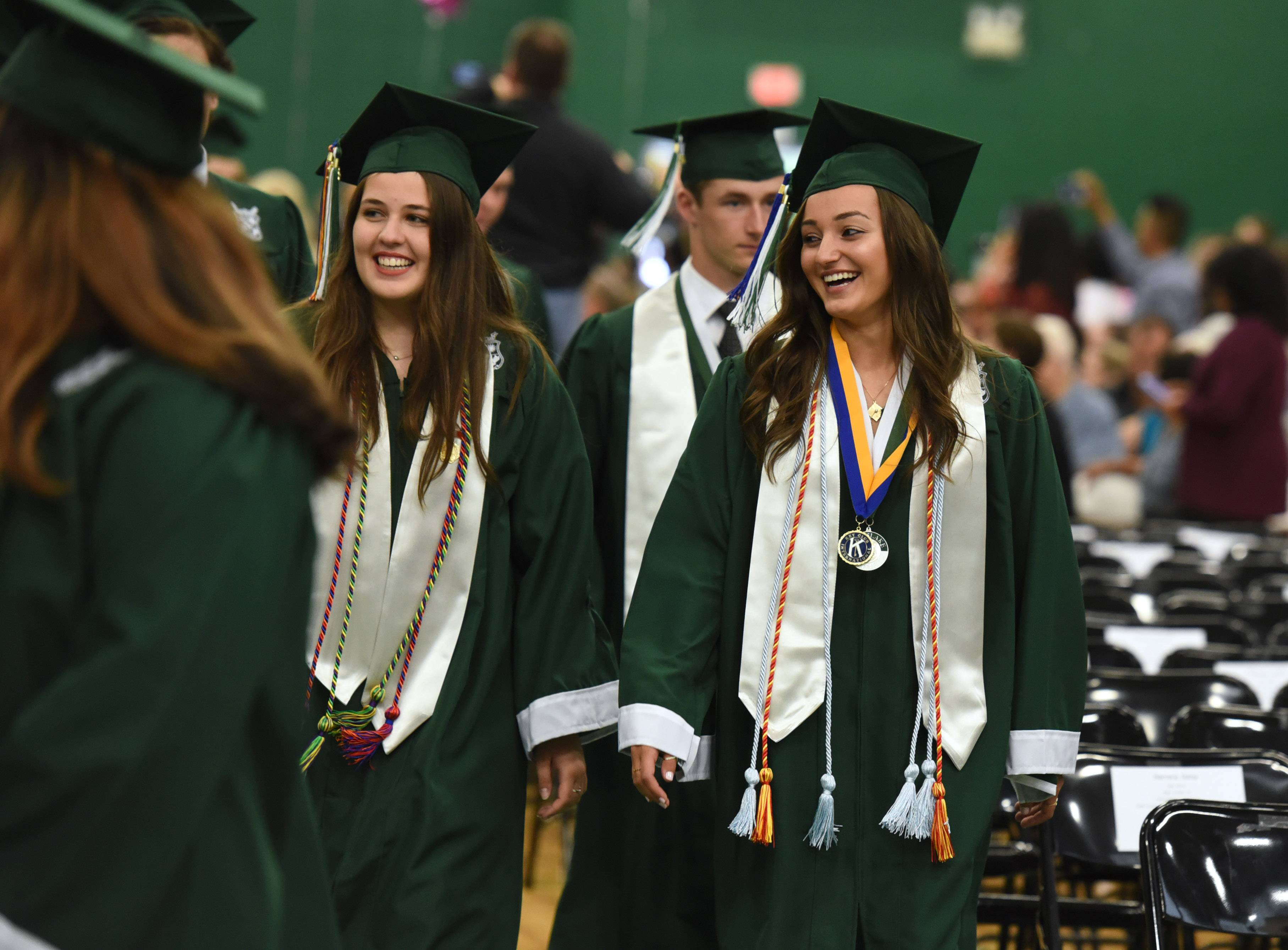 Grayslake Central High School graduates enjoy Sunday's commencement ceremony at the school in Grayslake.