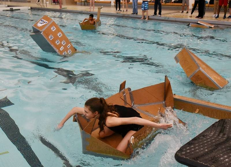 Time To Sink Or Float At Stevenson High Cardboard Regatta