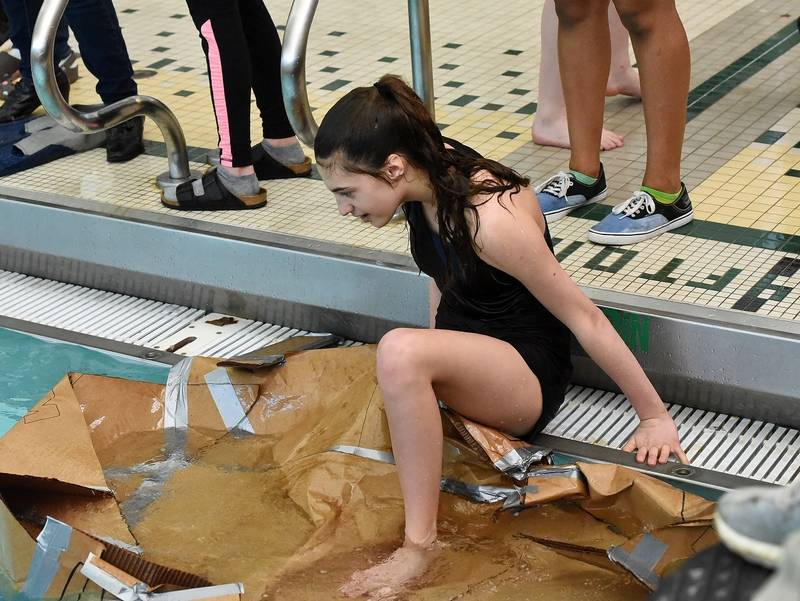 Timeime To Sink Or Float At Stevenson High Cardboard Regatta