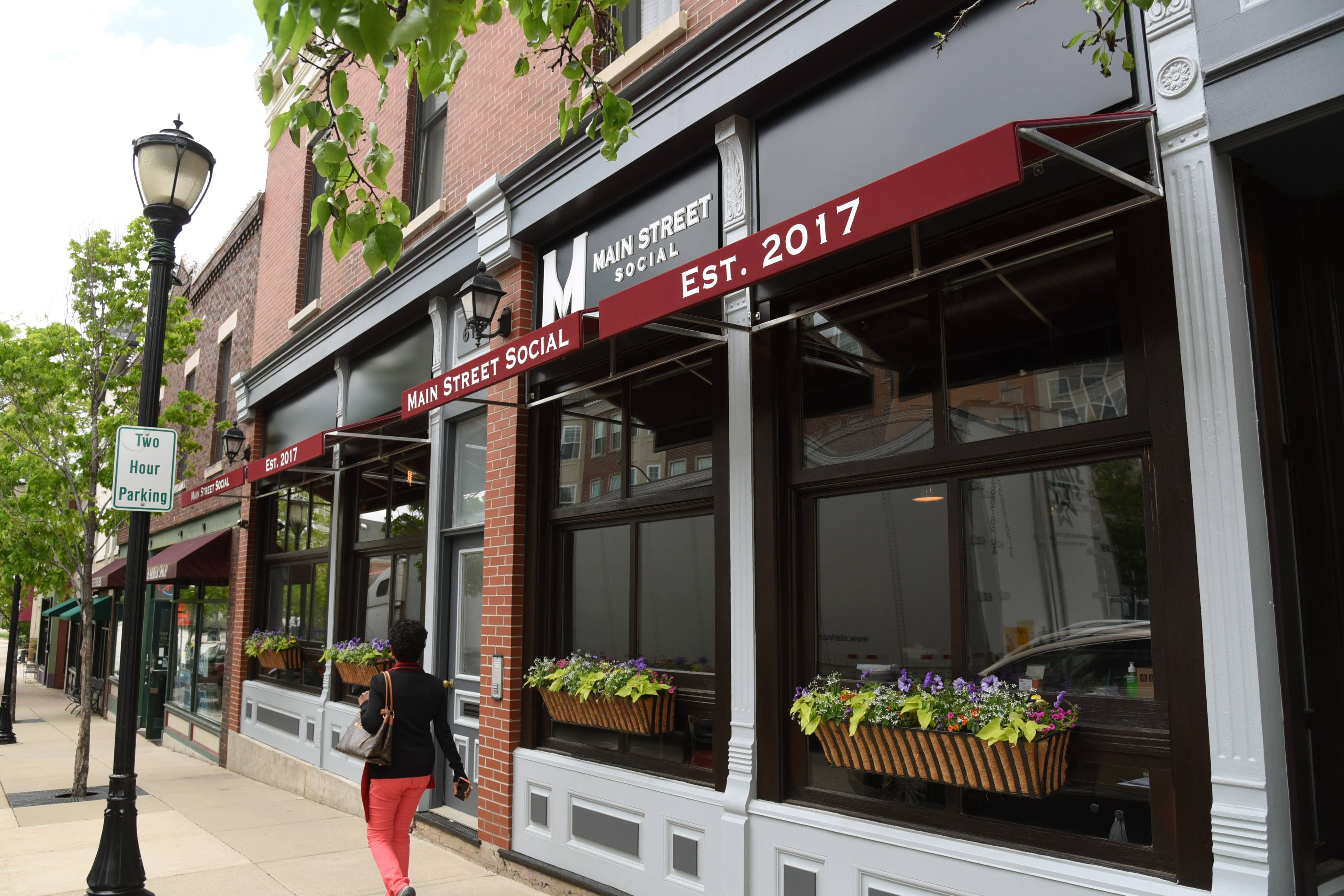 "Main Street Social described as an ""industrial chic, urban wine bar and restaurant"" with twists on classic Italian and Mediterranean fare is scheduled to open Saturday in downtown Libertyville."