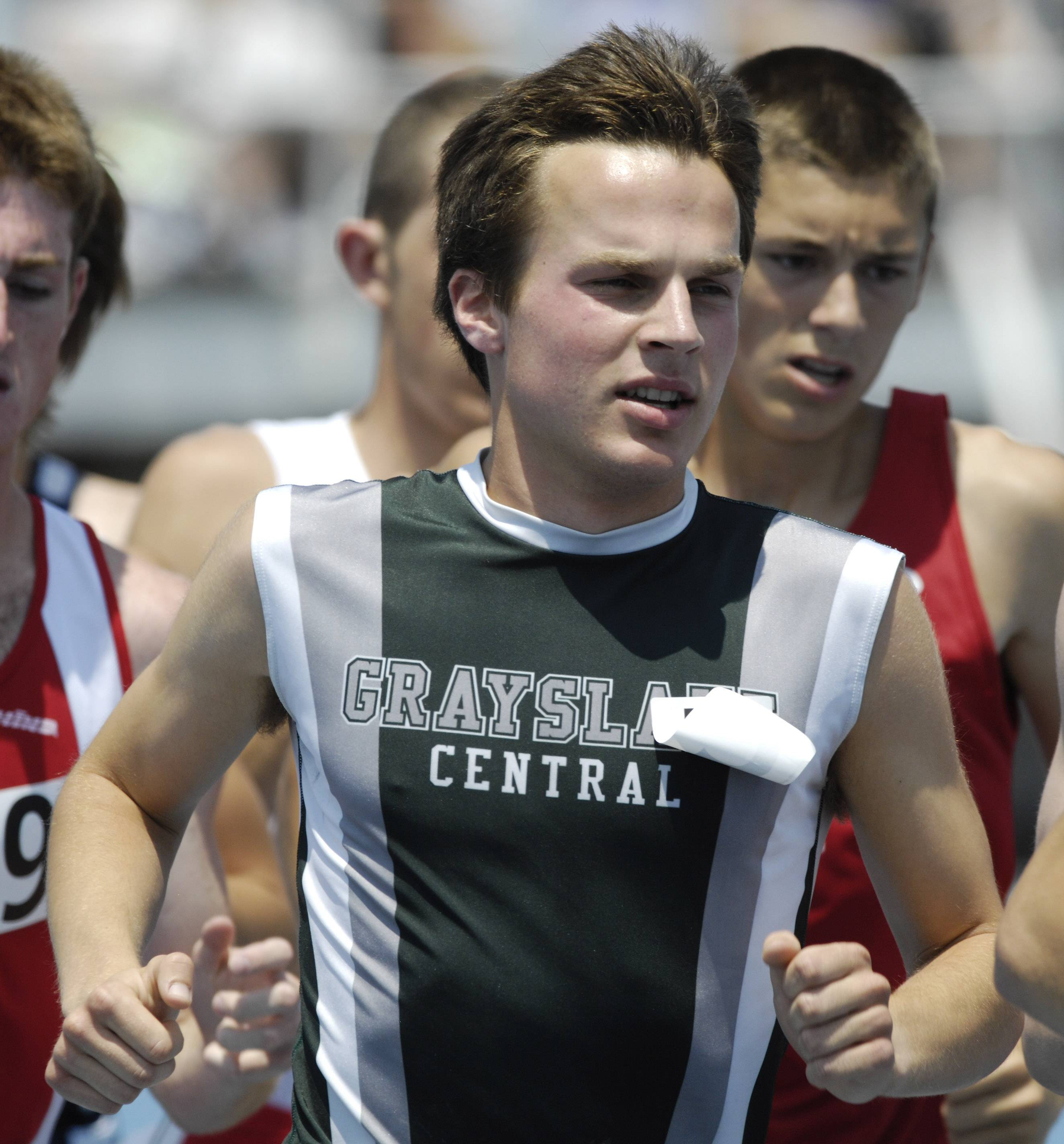 Will Brewster, here competing in the Class 2A 3,200-meter run at the state meet during his high school days at Grayslake Central, is now a two-time NCAA regional qualifier.