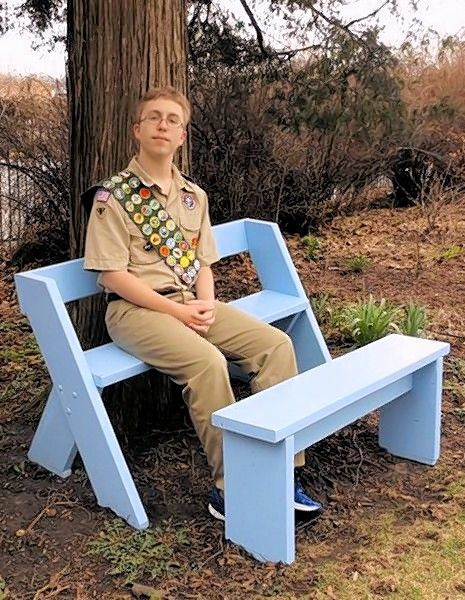 Scout Builds Leopold Style Bench For West Chicago Garden