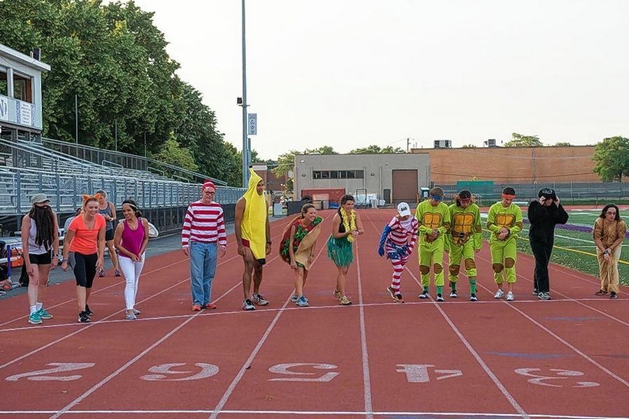 Participants in the first Costume Mile at Ben's Memorial Mile line up for their race in 2016. This year's Mile is set to begin at 5 p.m. Saturday, June 17 at Downers Grove North High School, and the costume race will be back along with elite, open, walking and kids' miles.