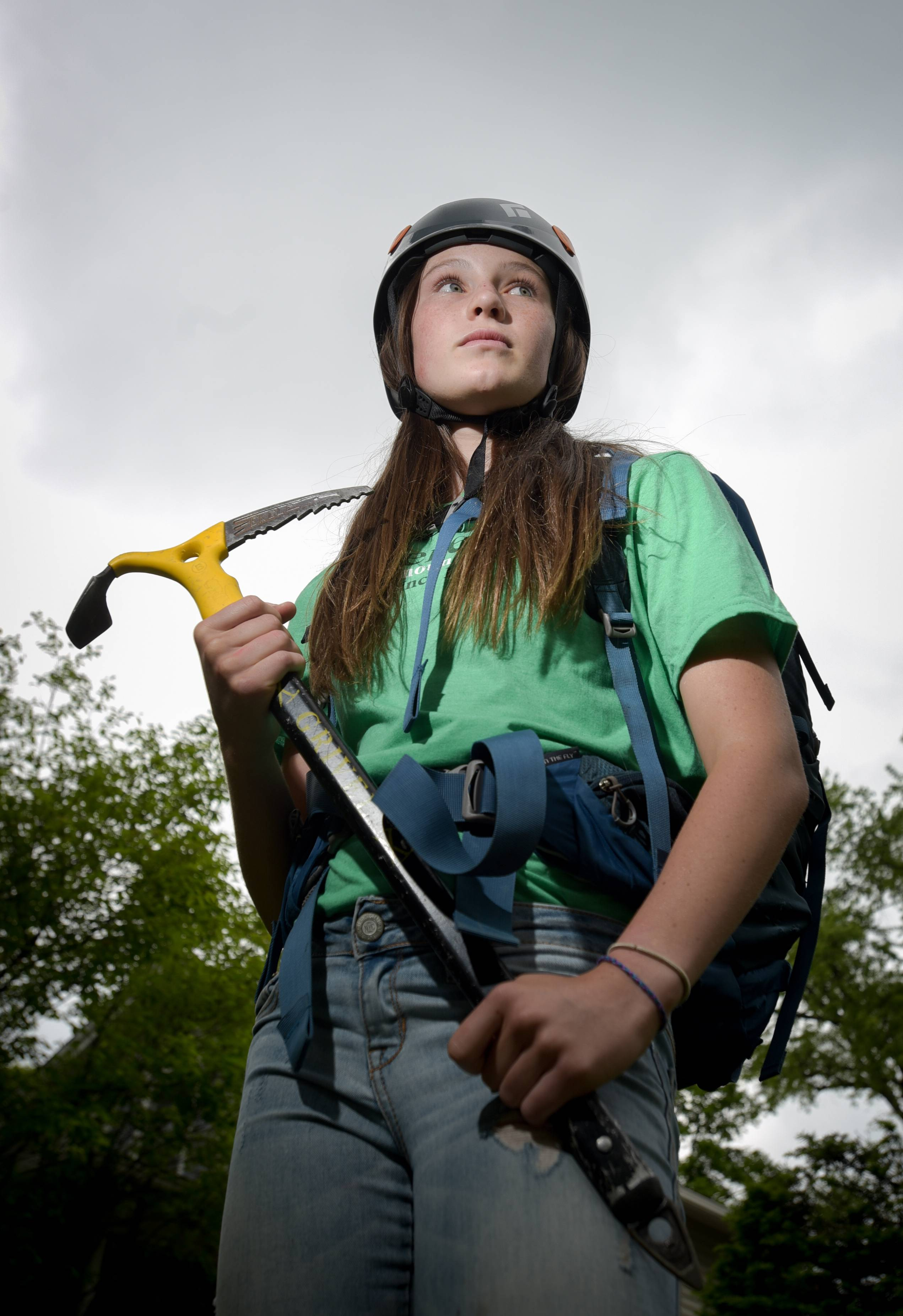 Lucy Westlake, 13, of Naperville, could become the youngest girl to climb to the highest point in all 50 states this summer if she reaches the summit of Mount Denali in Alaska.