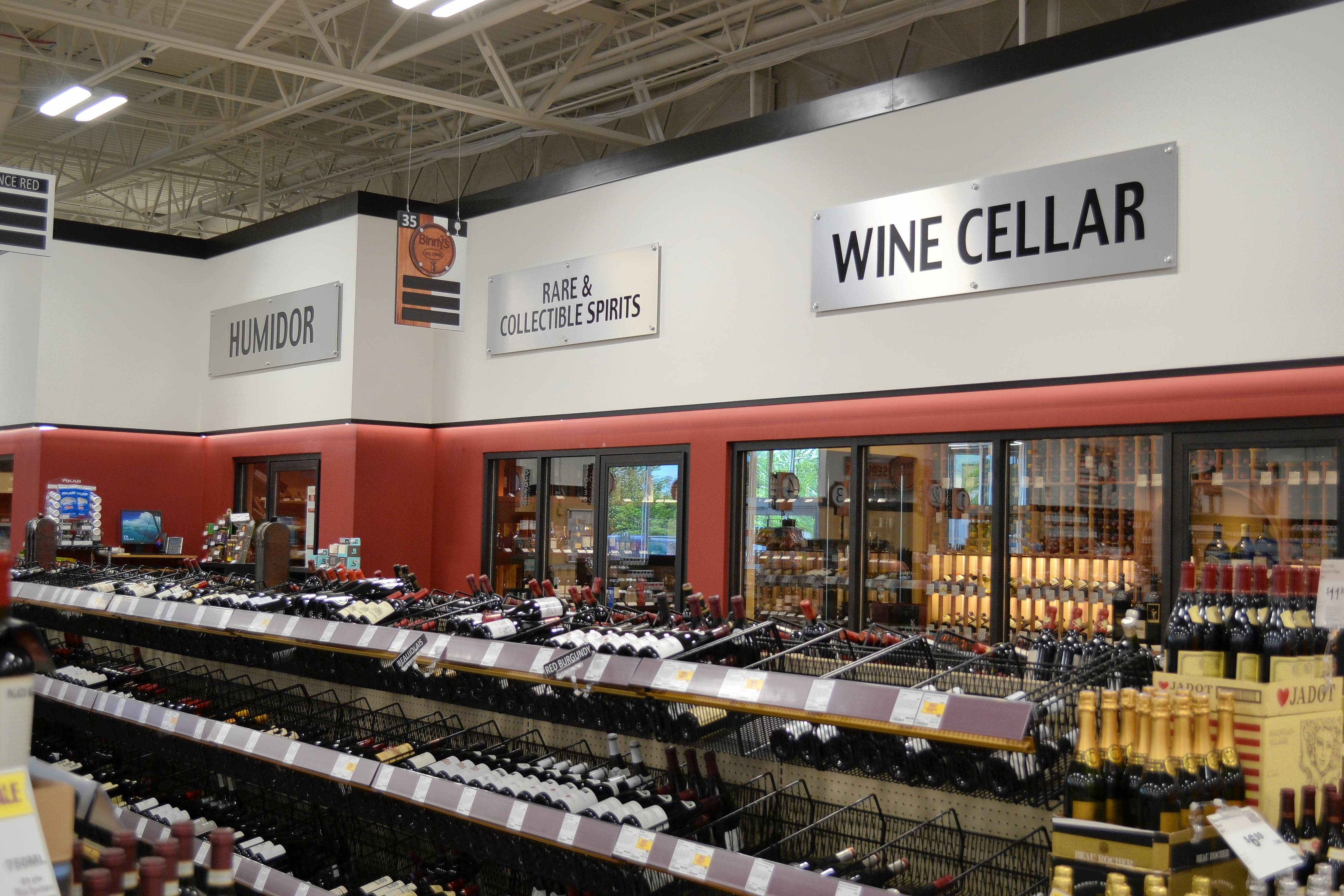 This is a view of the temperature-controlled wine cellar for fine and rare wines at the new Binny's Beverage Depot in Wheeling.