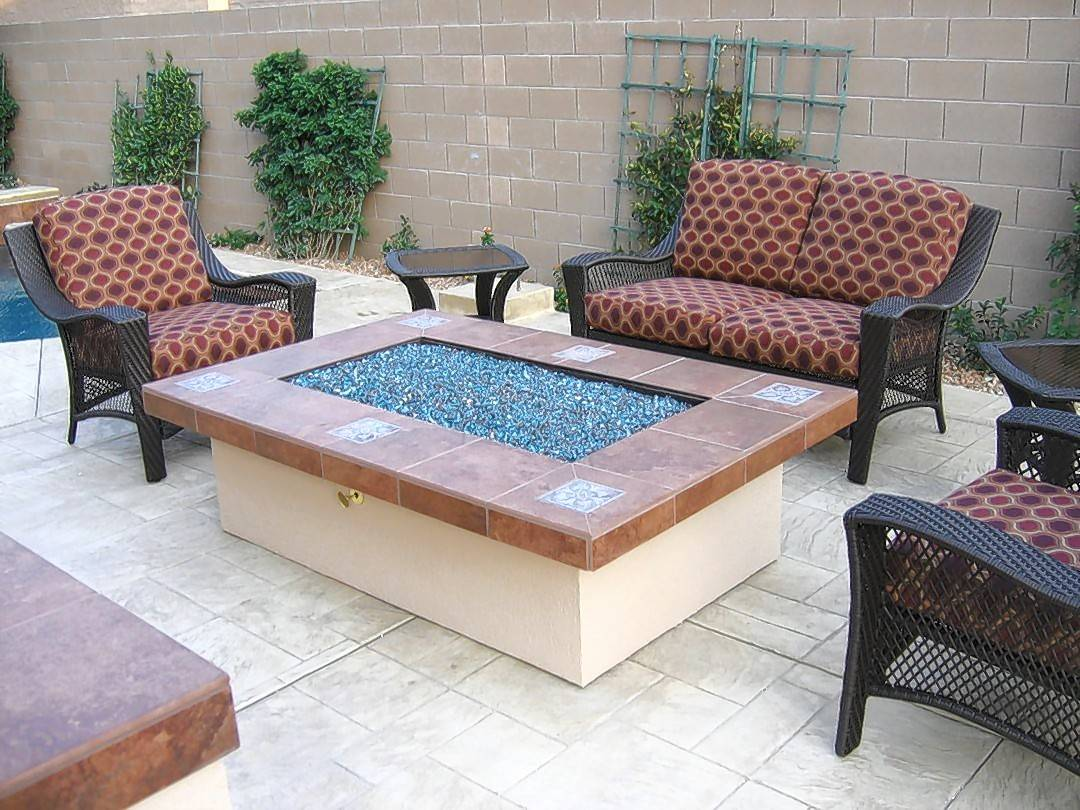 Cushioned patio seating and fire tables are relatively new additions to the world of outdoor furniture.